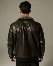 Load image into Gallery viewer, Detachable Lamb Fur Goatskin Cafe Racer Jacket
