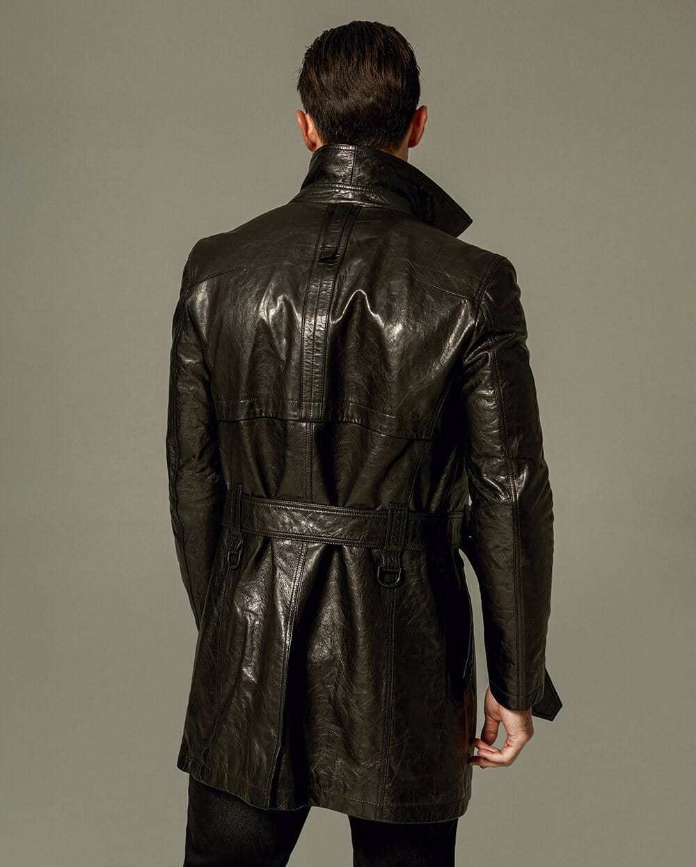 Vegetable Tanned Goatskin Leather Coat
