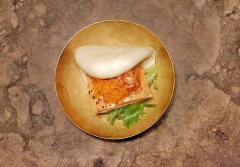 15  Smoked salmon with salmon roe and yuzu mayonnaise