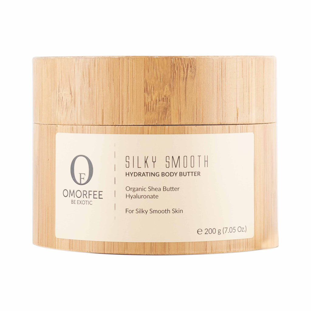 omorfee silky smooth hydrating body butter front 200 grams organic body butter shea butter moisturizer for dry skin paraben free skincare