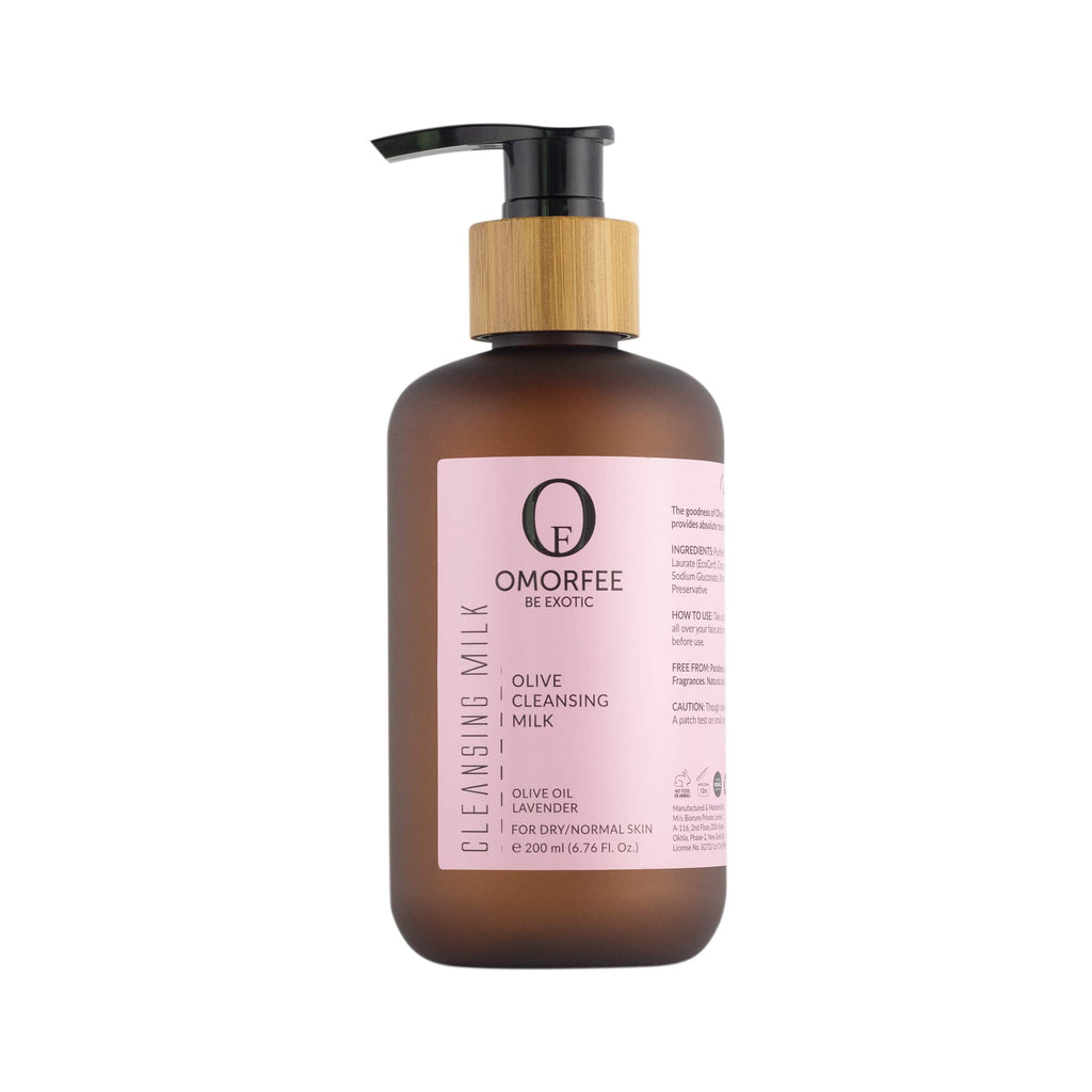 Omorfee 100% Organic and natural cleansing milk. Natural makeup remover for dry skin.