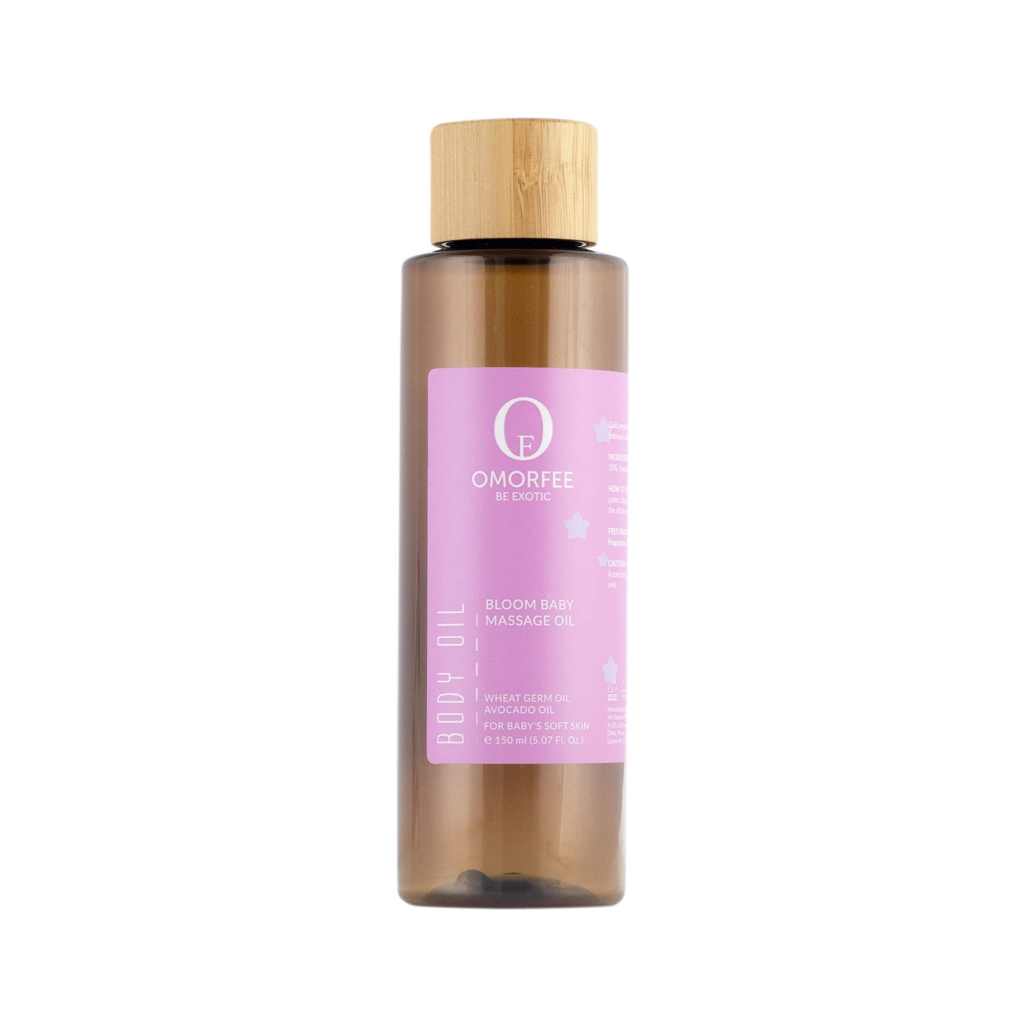 Omorfee Organic and natural baby body oil. Soft baby skin. Baby body oil for baby healthy skin and smooth soft skin.