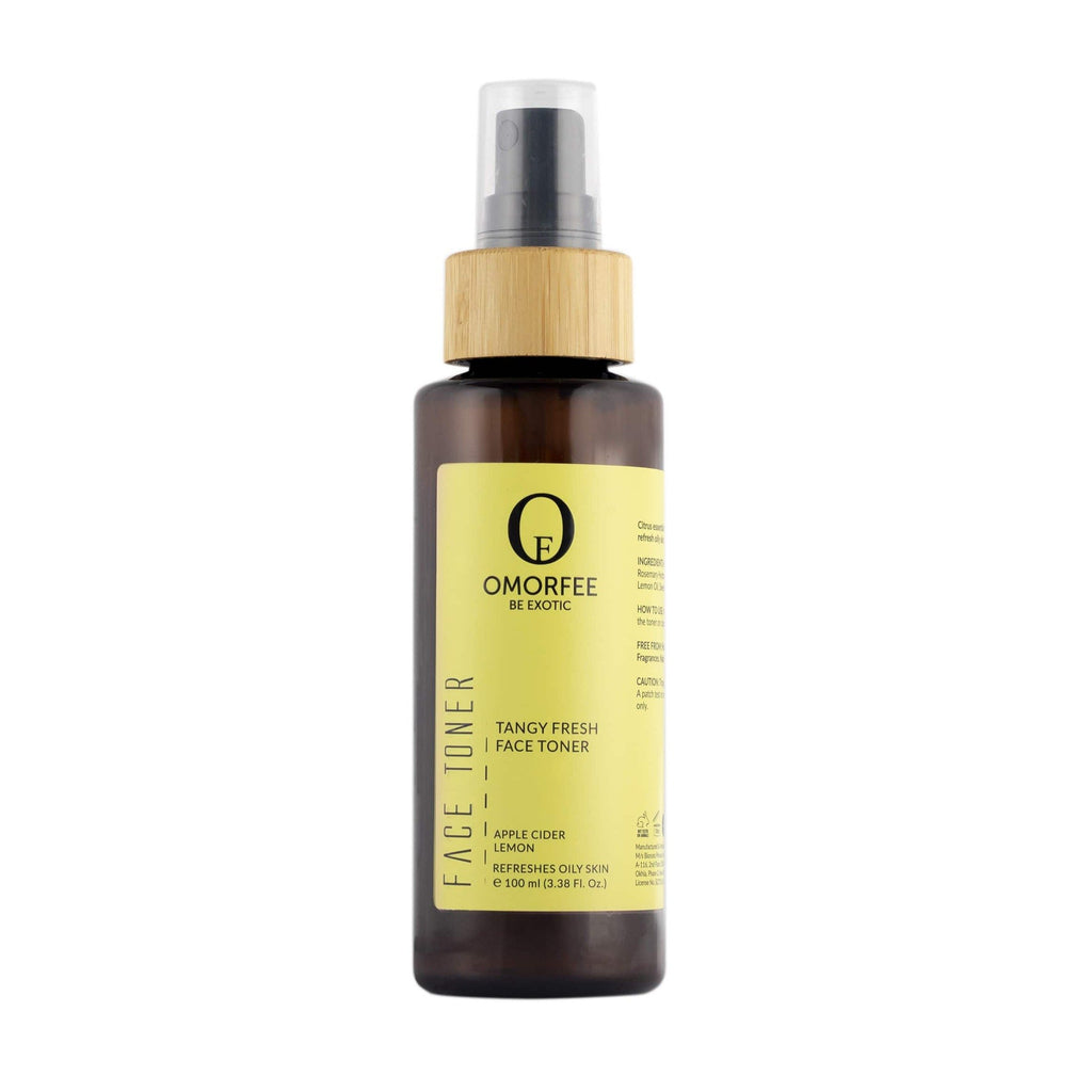 Omorfee organic and natural tangy fresh face toner. Lemon freshness in toner. Best for oily skin and acne on skin.