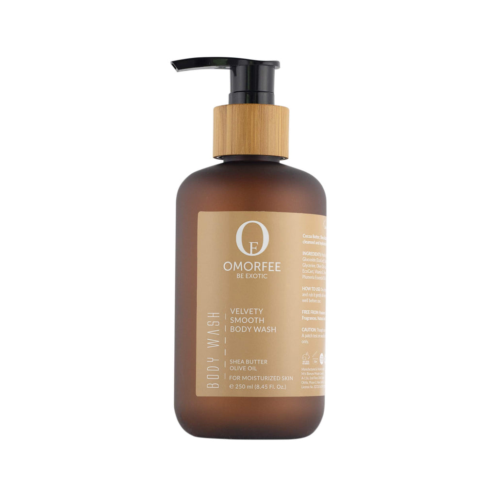 Organic and all natural Body Wash. Body wash for dry skin. omorfee-velvety-smooth-body-wash-front-organic-skincare-products-organic-beauty-products-best-body-wash-for-dry-skin