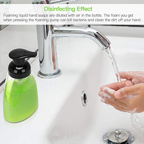 ULG Foaming Soap Dispensers 10oz/300ml Pack of 6 Black