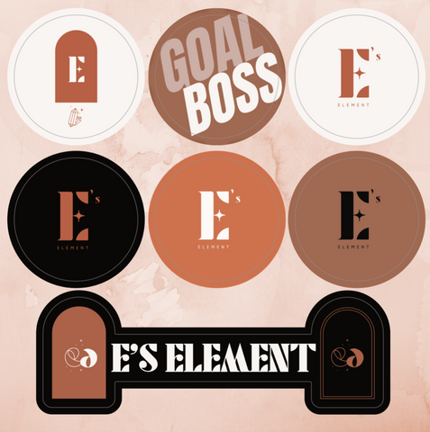 E's Element Sticker Sheets (Includes 7 stickers!) - E's Element by Emmanuela Okon