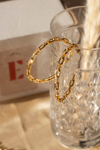 Ella Anchor Cubic Zirconia Hoops