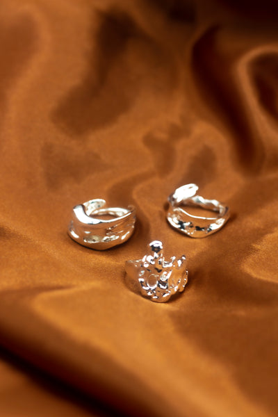 Ella Lava Ring Trio (Set of 3)