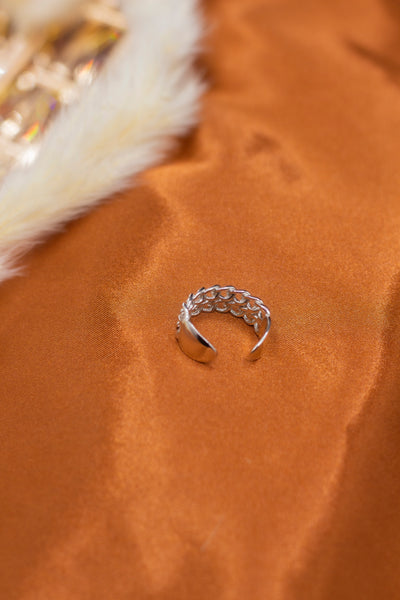 Platinum Double Band Ring