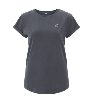 Bild in Slideshow öffnen, Basis Shirt - Light Charcoal - Frauen