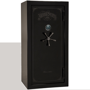 "Classic Select Series | Level 6 Security | 90 Minute Fire Protection | Black Gloss | Mechanical | 25 | Dimensions: 60.5""(H) x 30""(W) x 28.5""(D)"