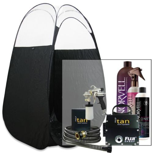 Fuji Mini Spray Tan System with Norvell Tanning Solution & Tent