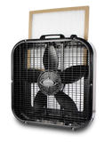 Norvell Overspray Floor Fan - Professional with Filter (Black)