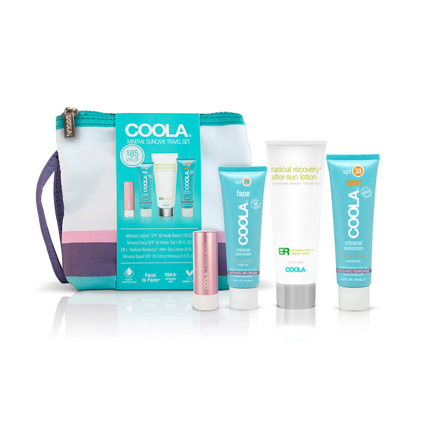 4 PIECE SIGNATURE MINERAL TRAVEL SET