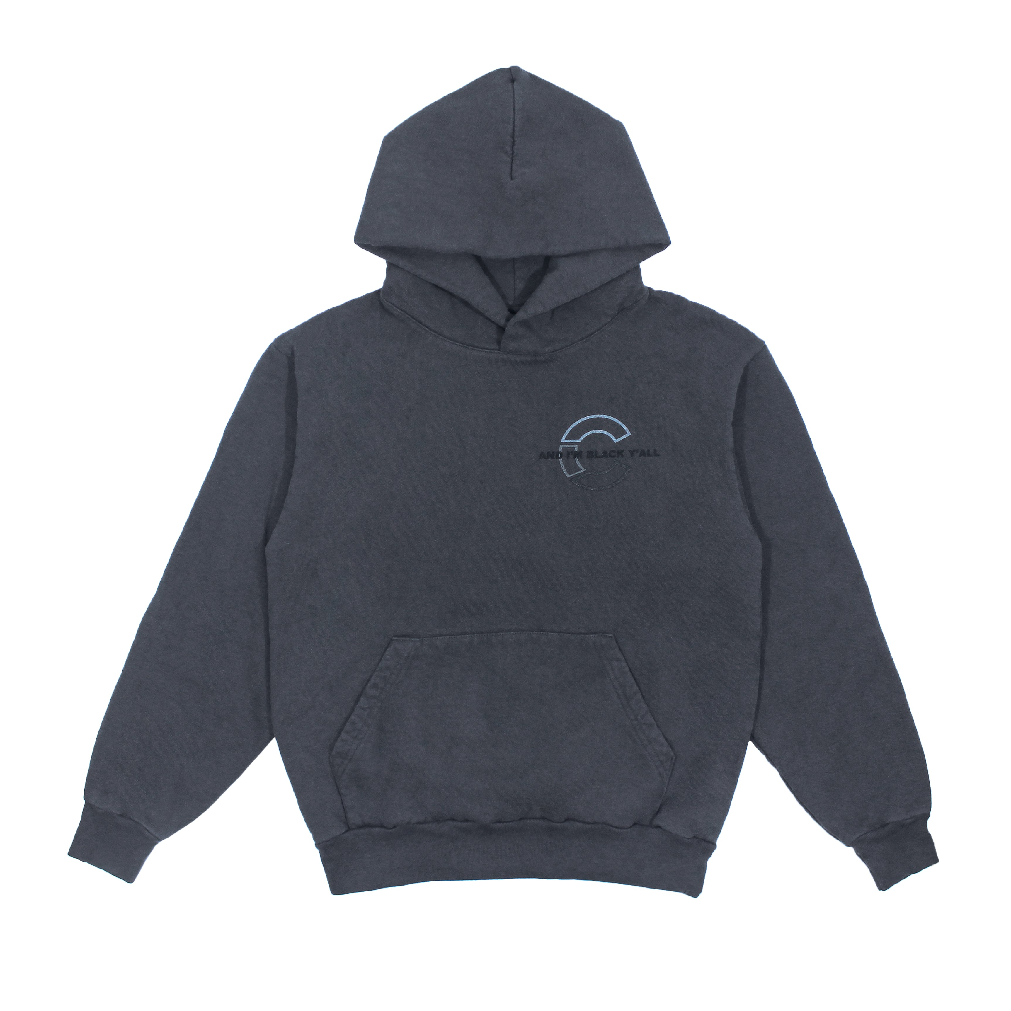 the CRATE l'm Black Y'all Hoody Dark Grey