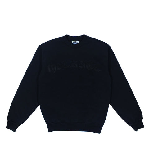 the CRATE Old English Crewneck Black