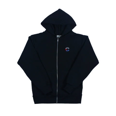 the CRATE Classic Zip Up Black