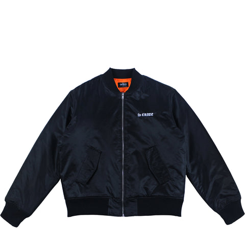 the CRATE Bomber Jacket Black