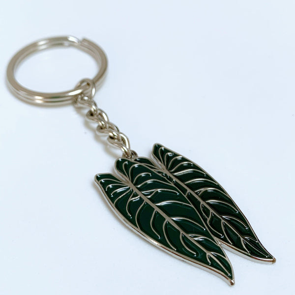 Philodendron Melanochrysum Pin / Keyring - Luxe Foliage