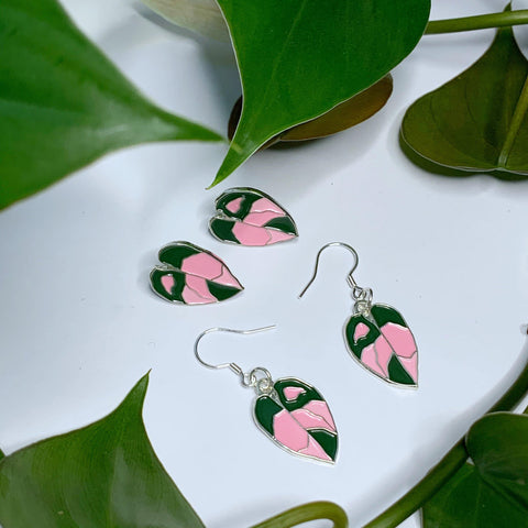 Pink Princess Earrings - Luxe Foliage