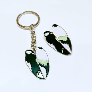 Philodendron White Knight Pin / Keyring - Luxe Foliage