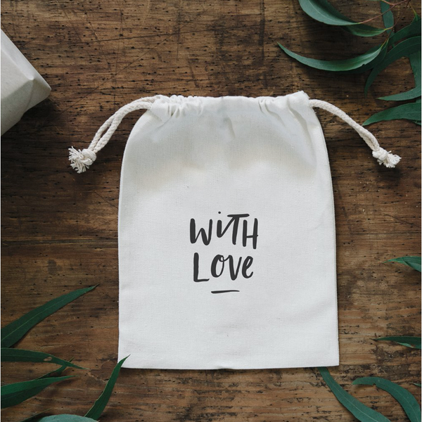 With Love Canvas Gift Bag - Luxe Foliage