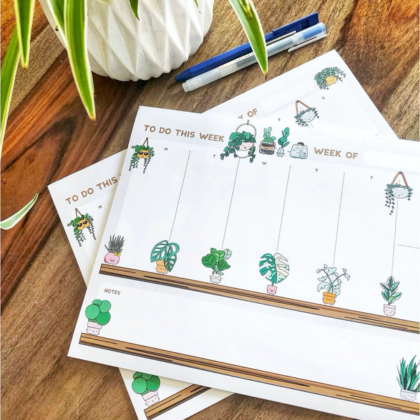 Plant Buddies weekly planner - Luxe Foliage