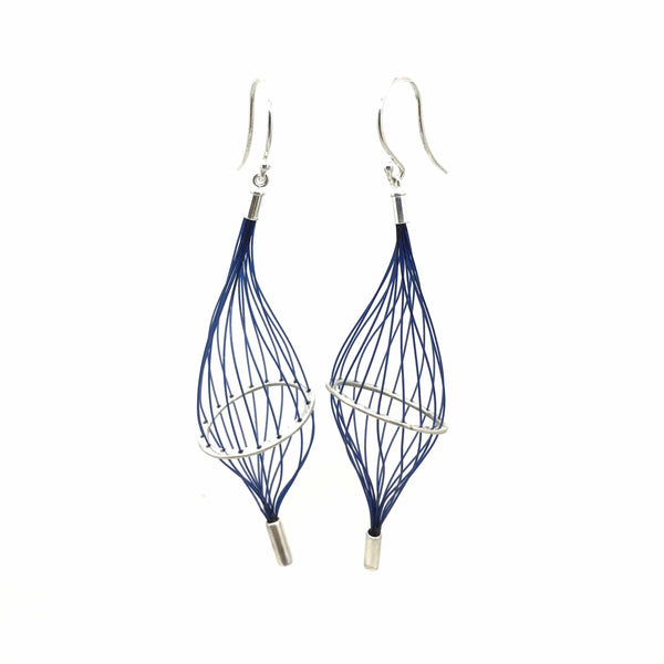 'Descent' - Aqua Earrings by Sophie Carnell