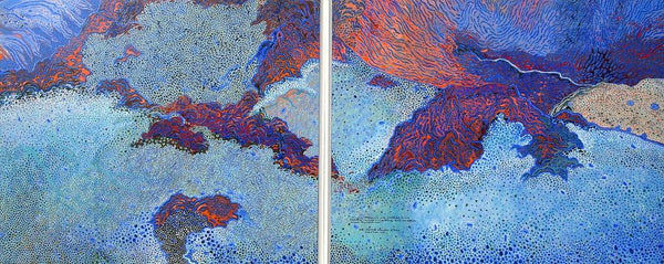 Mount Field Winter (diptych) by Ray Firth