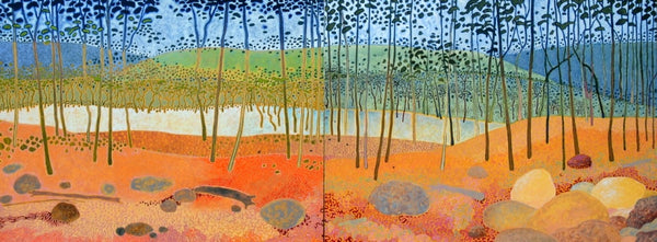 Mount Field Woodland (diptych) by Ray Firth