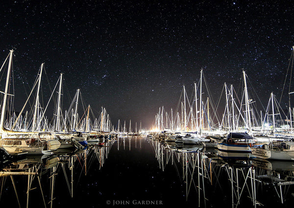 Orion Over Kettering Marina by John Gardener