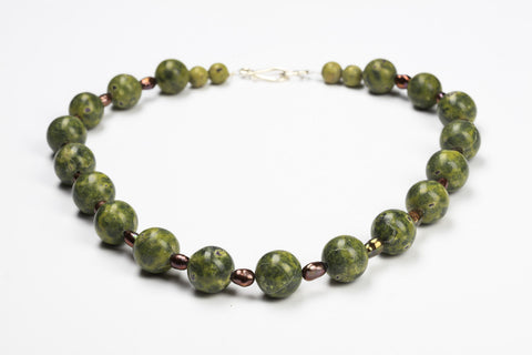 Serpentine & Stichtite Necklace