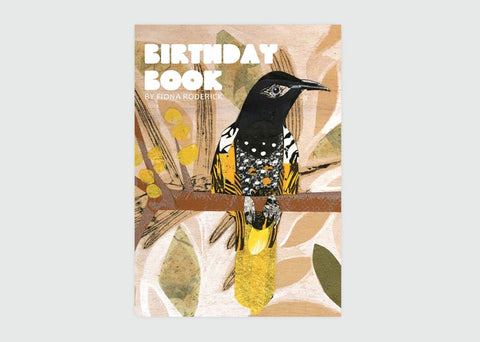 Australian Bird Birthday Book by Fiona Roderick