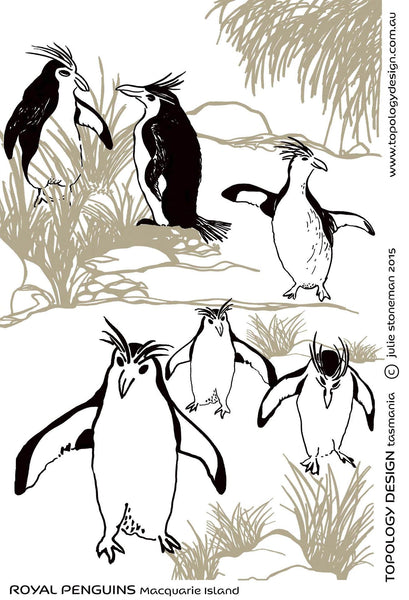 Endangered Species Tea-Towel Royal Penguin