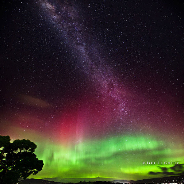 Aurora over Blackmans Bay by Loic le Guilly