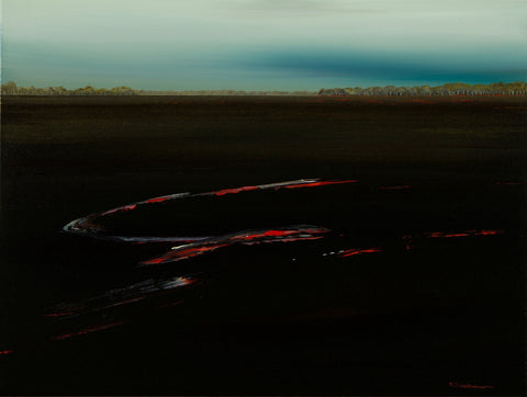 'Glowing Embers' Burning Landscape Series by Michael Weitnauer
