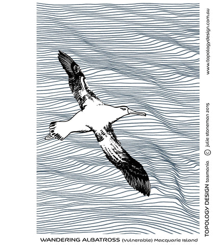 Endangered Species Tea-Towel Wandering Albatross