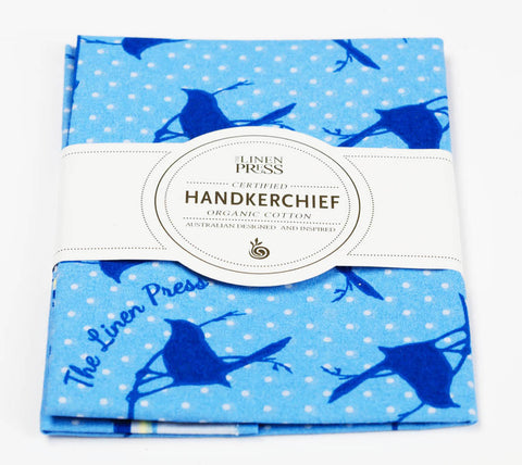 Linen Press Organic Cotton Handkerchief