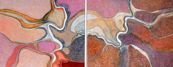 Estuary Bicheno (diptych) by Ray Firth