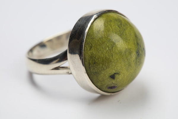 Serpentine & Stichtite Ring