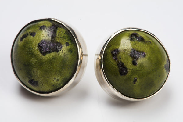 Serpentine & Stichtite Earrings
