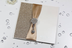 Luxury Glitter Diamante Wedding Invitation
