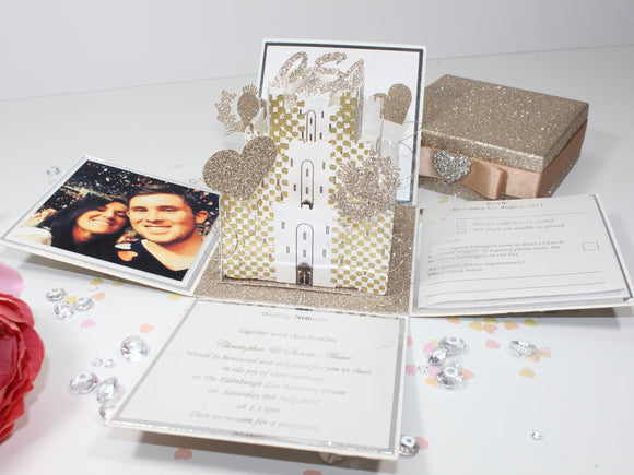 Castle Exploding Box Wedding Invitation