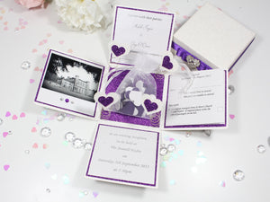 Confetti Exploding Box Wedding Invitation