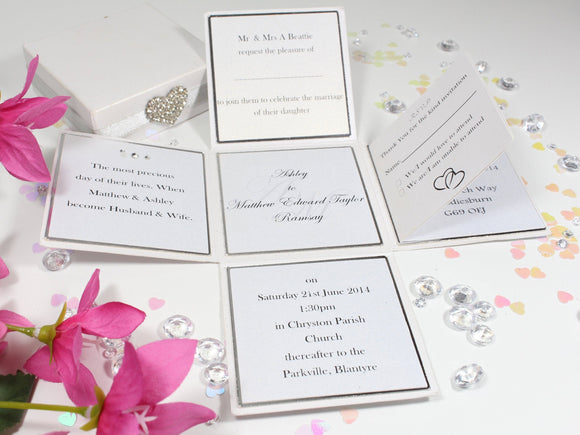 Luxury Elegant Diamante wedding invitation box