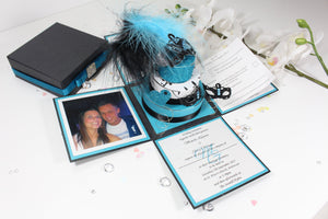 Masquerade Round Cake Exploding Box Wedding Invitation