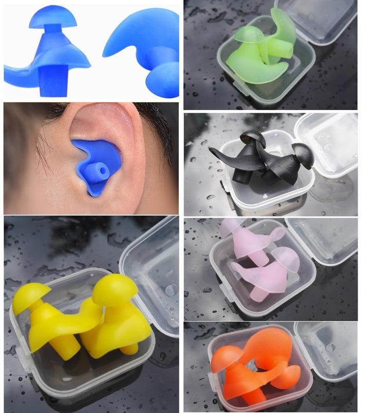 1 Pair Soft Ear Plugs For Swimming - Single Athletics