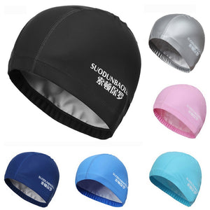Elastic Waterproof PU Fabric Swim Hat - Single Athletics
