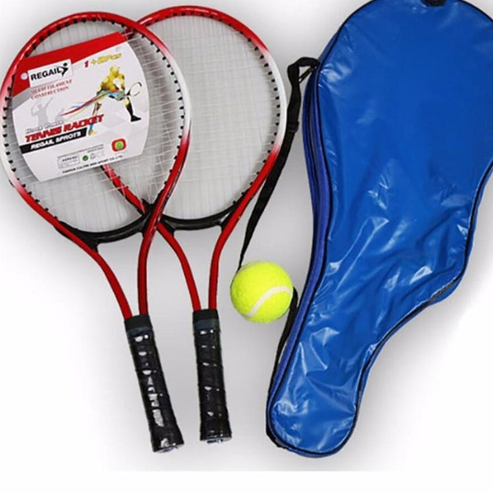 2 Tennis Racket with Tennis bag and Tennis ball - Single Athletics