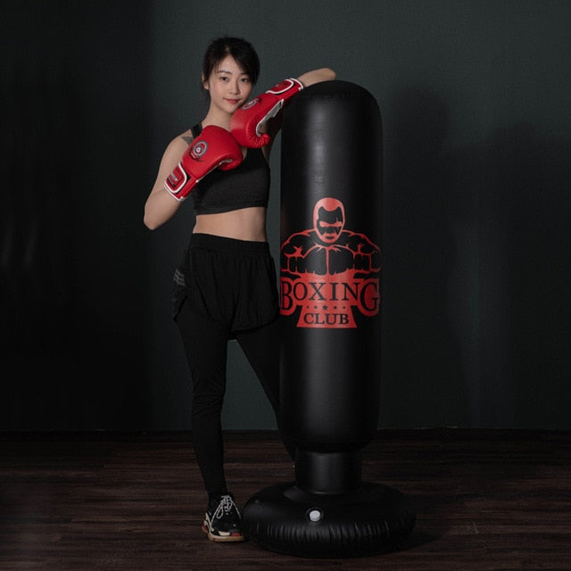 Boxing Punching Bag - Inflatable - Single Athletics